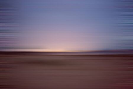 Night beach. Motion blur abstract background with horizontal stripes
