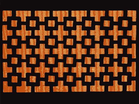 grating: patterned grating Illustration