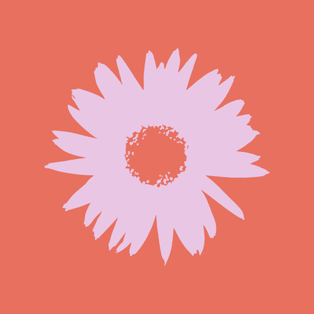 abstract symbolism: Vector flower