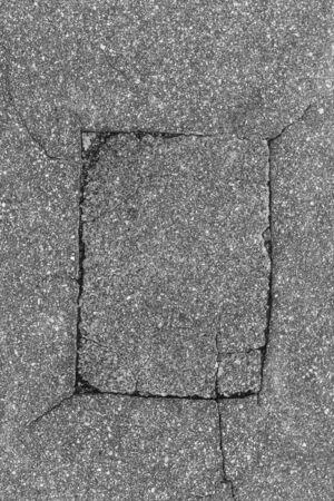 solid line: Carved frame in asphalt for your design