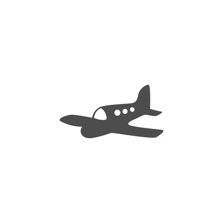 airways: Icon gray airplane on a white background vector. Illustration
