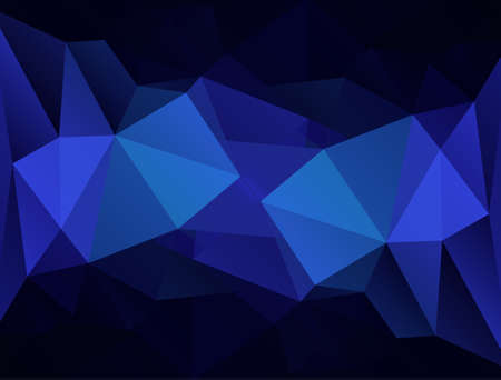 rumpled: Blue abstract geometric rumpled triangular on a black background.