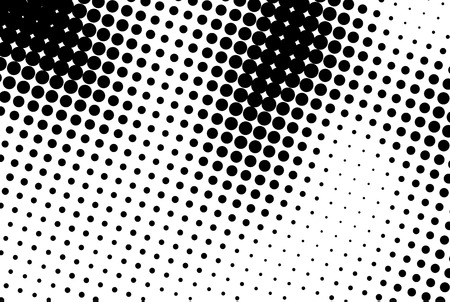 wallpapper: Black and white abstract background with black dots. Illustration