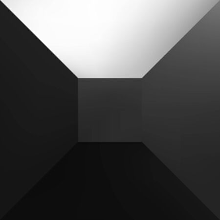 one colour: One black abstract square gradient close up.