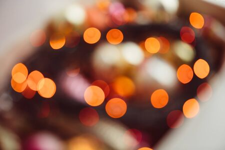Best colorful bokeh lights background close up.