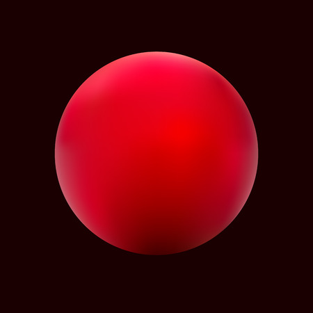 red ball: Red ball vector on a black background. Illustration