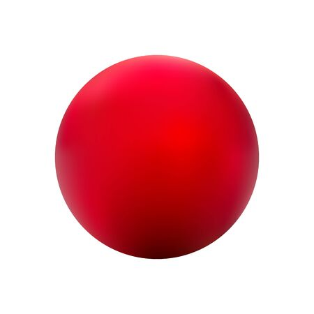 red ball: Red ball vector on a white background. Illustration