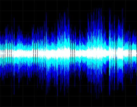 Blaue abstrakte digitale Schallwelle Hintergrund. Vector Kunst.