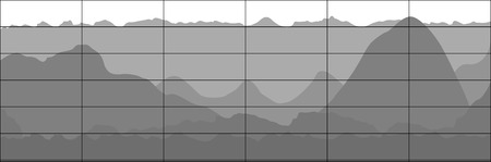 graph trend: Gray business flat graph trend chart. Vector art.