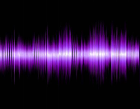wavelength: Design abstract digital sound wave on a black background. Stock Photo