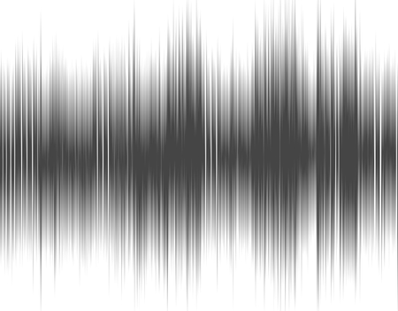 wavelength: Gray abstract digital sound wave on a white background. Stock Photo