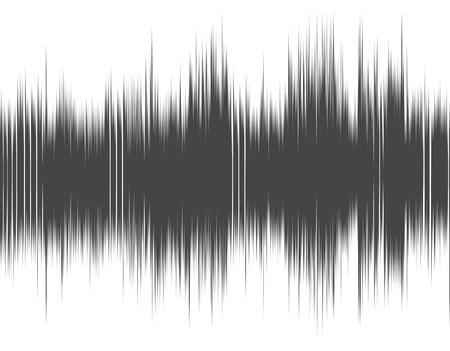 灰色抽象デジタル サウンド ウェーブ白い背景の上。
