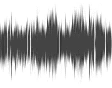 Gray abstract digital sound wave on a white background. Stock fotó