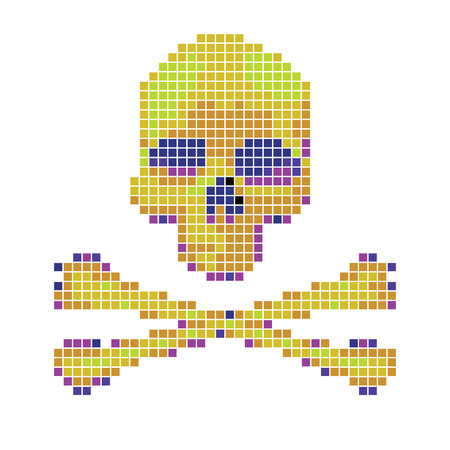 crossbones: Skull and crossbones collected from pixels on a white background.