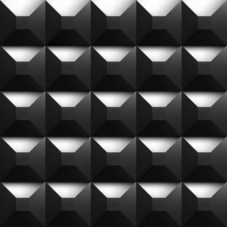 noiseless: Black soundproofing foam background with light. Vector art.