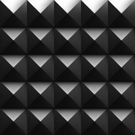 dampen: Black soundproofing foam background with light. Vector art.