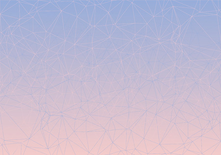 art piece: Pink and blue piece of glass low poly colorful gradient. Vector art.