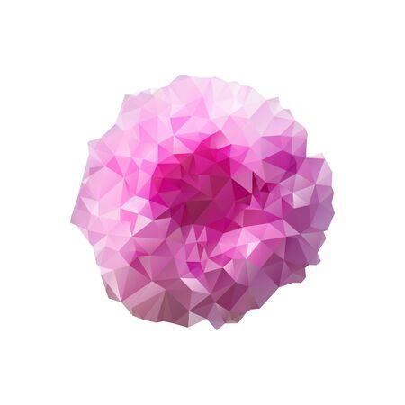 Polygon peony bud on a white background. Vector art. Vektorové ilustrace