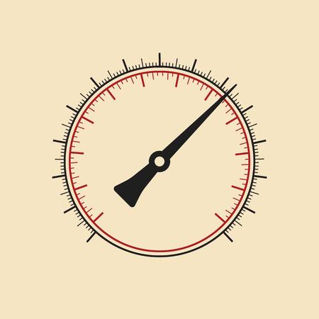 manómetro de vectores modernos sin números. Arte del vector. Ilustración de vector
