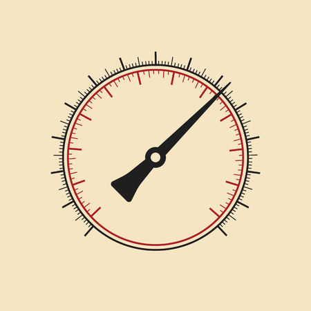 manometer: Modern vector manometer without numbers. Vector art. Illustration