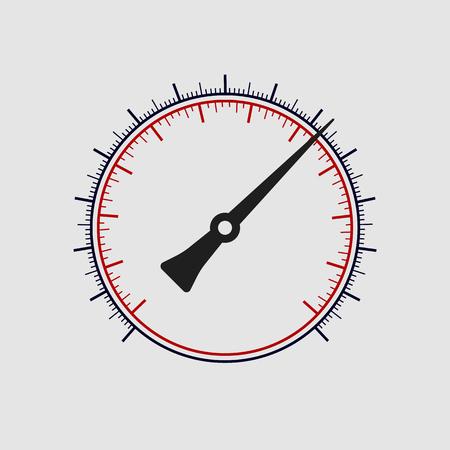 manómetro Vector sin números sobre un fondo blanco. Arte del vector. Ilustración de vector