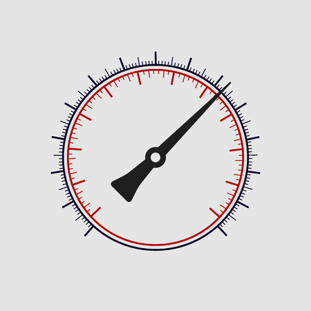 gas gauge: Vector manometer without numbers on a white background. Vector art.