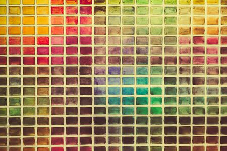 plurality: Wall of the plurality of colored squares. Close up photo. Stock Photo
