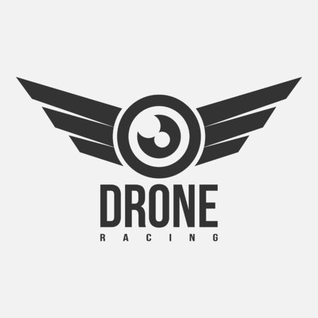on white: Black and white drone racing