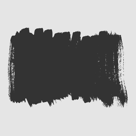 smeared: White background smeared black paint with a brush. Vector art.
