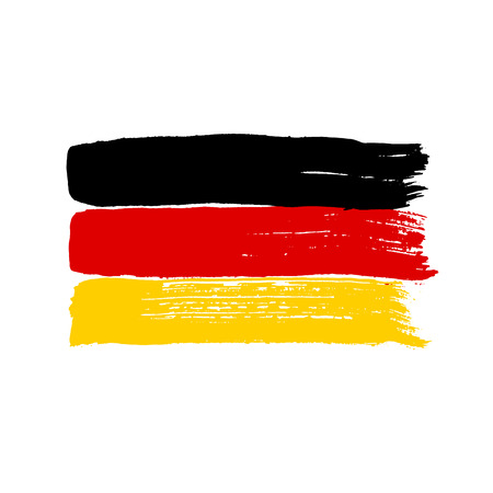 white flag: Flag of Germany on a white background. Vector art. Illustration