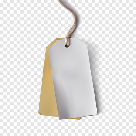paper tag: Blank Paper Tag. realistic paper tag with shadows on a transparent background.