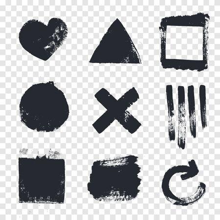 cross hatching: Grungy design elements.