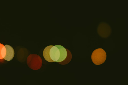 colorful abstract bokeh on a dark background Stock Photo