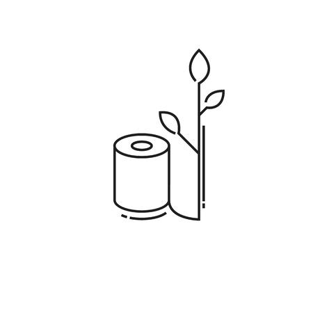 Umweltfreundliche Rolle Toilettenpapier. Moderne Ikone Von Dünnen ...