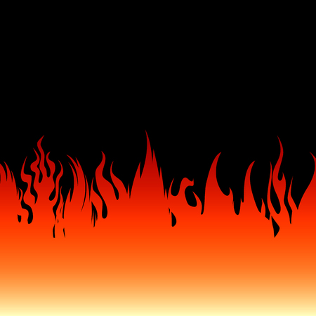 Fire flames on a black background. Vector illustration Illustration