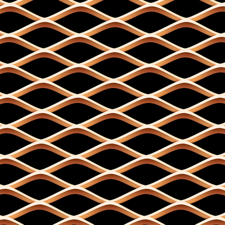 grille: metal grille close up. Vector isolated Illustration