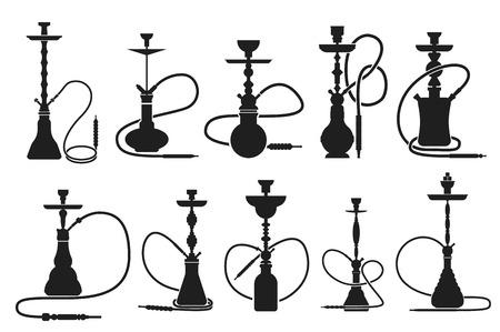 waterpipe: Hookah set Illustration