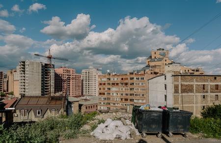 Historic district Kond, Yerevan, Armenia. View of new buildings