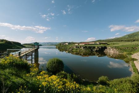 Aparan 貯水池アルメニア 写真素材