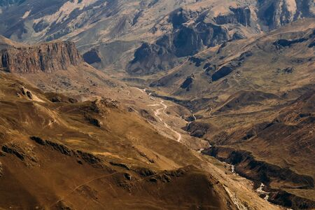 landscape from the high mountains in the daytime