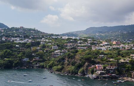 sea and coast as well as yachts and boats in Ischia Italy