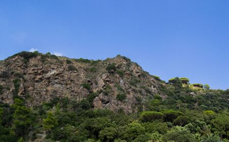 Italian mountains and hills in the city of Ischia