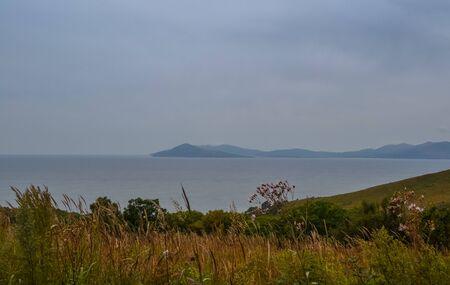 Landscape view of the Japanese sea. Russia, Primorsky Krai Banco de Imagens