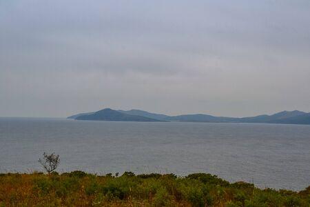 Landscape view of the Japanese sea. Russia, Primorsky Krai Фото со стока