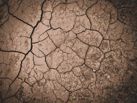dry cracked brown earth background