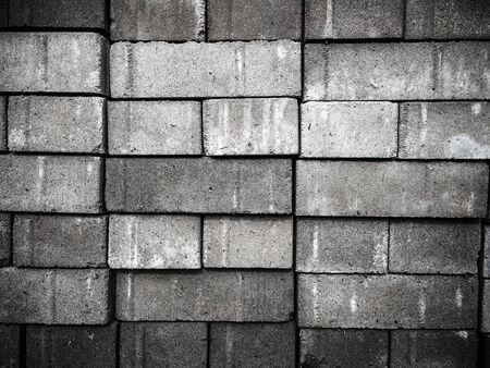 wall of old white brick surface texture designer background Banco de Imagens - 132118897