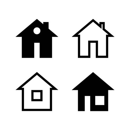 simple black and white house icons.