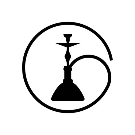 Hookah logo simple icon on white isolated background.