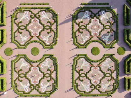 "park ""Oranienbaum"". Garden top view in St. Petersburg."