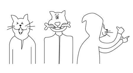 funny cats set